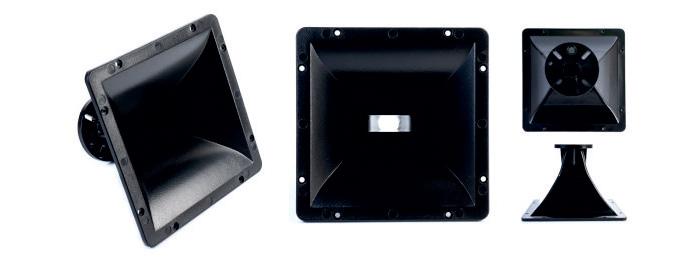 CVGaudio RDP19070 - Рупор для ВЧ драйвера, горло 26мм, 225х225мм, пластик ABS
