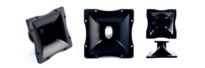 CVGaudio RDP19070L - Рупор для ВЧ драйвера, горло 26мм, 180х180, пластик ABS