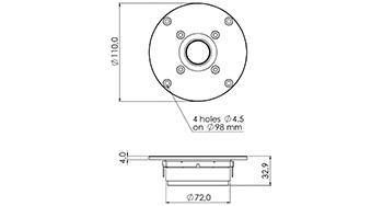 SPL / Frequency для SICA Z009215C LP111.25/245