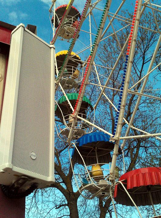 Система трансляции фоновой музыки и речевого оповещения CVGaudio в Центральном Детском Парке города Геленджик