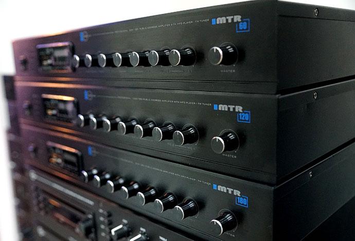Микшеры-усилители серии MTR со встроенным модулем источника сигнала (MP3 - USB/SF, FM tuner)