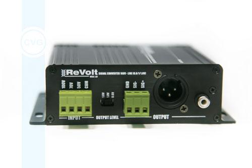 CVGaudio ReVolt - одноканальный преобразователь спикерного сигнала трансляционных систем в звуковой сигнал линейного уровня