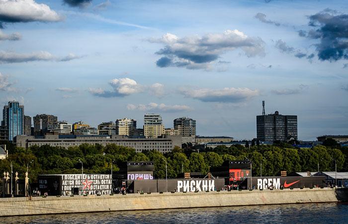 CVGaudio осуществили разработку, поставку и монтаж аудио-видео оборудования для компании Nike - Pop-Up Store в Московском Парке Горького