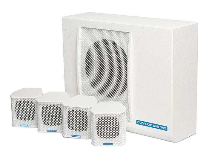 CVGaudio SUBSET-W - Профессиональный пассивный комплект из сабвуфера и четырех сателлитов, Hi-Pass / Low-pass пассивные фильтры, 220W/6 ohm, цвет белый