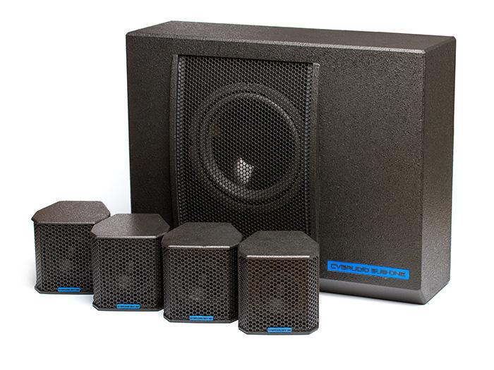 CVGaudio SUBSET-Bl - Профессиональный пассивный комплект из сабвуфера и четырех сателлитов, Hi-Pass / Low-pass пассивные фильтры, 220W/6 ohm, цвет черный