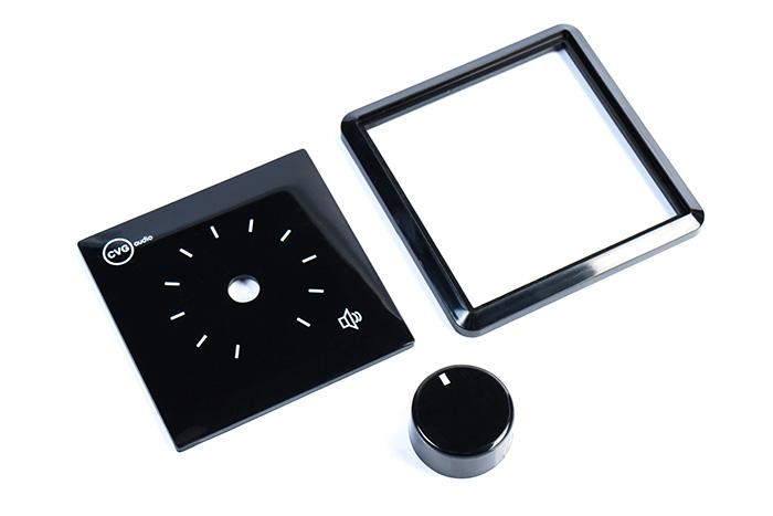 CVGaudio VA-Black S - комплект накладных пластиковых частей для 100V настенных регуляторов CVGaudio серии VA