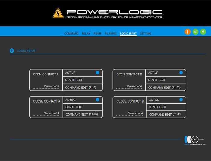 Power Logic INPUT - на каждое замыкание / размыкание для каждого из контактов имеется отдельная таблица на 10 команд для создания своего уникального сценария