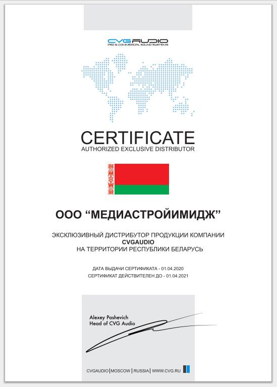 Компания Медиа Строй Имидж из Минска представляет продукцию CVGAUDIO