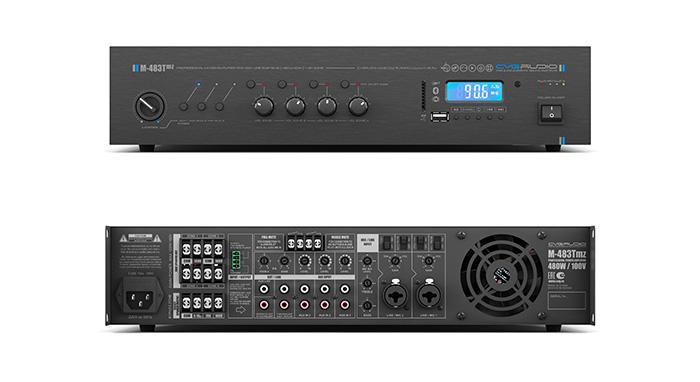 CVGAUDIO M-483Tmz - профессиональный трансляционный микшер-усилитель