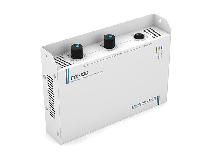 CVGAUDIO MX-100 - небольшой настенно/настольно устанавливаемый микшер-усилитель