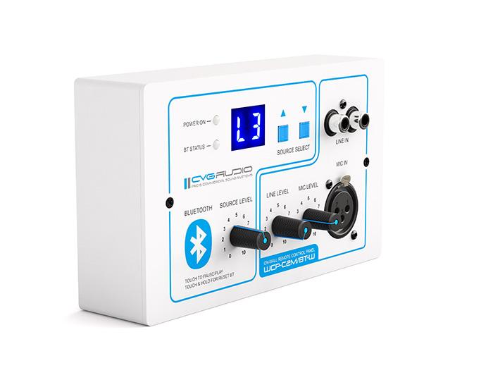CVGAUDIO WCP-C2M/BT-W - внешний контроллер управления громкостью для PMM-380, с модулем BT, белый